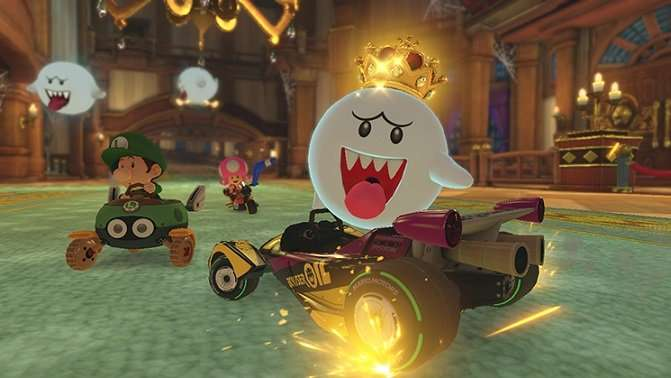 mario kart 8 deluxe boo power slide