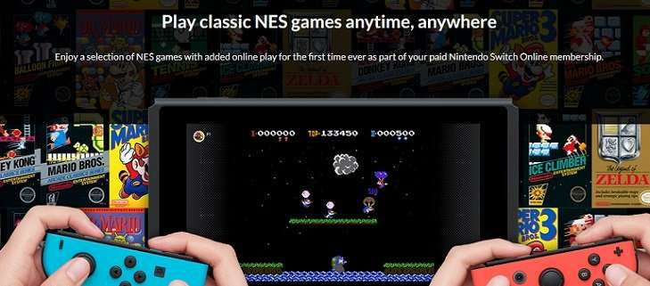 switch online launching with nes classics