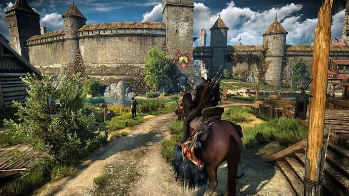 witcher 3 geralt on horse