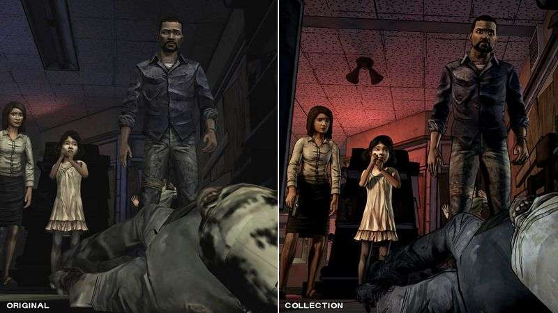 the walking dead telltale series collection comparison