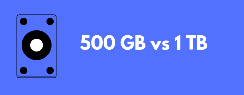 500 GB vs 1 TB PS4