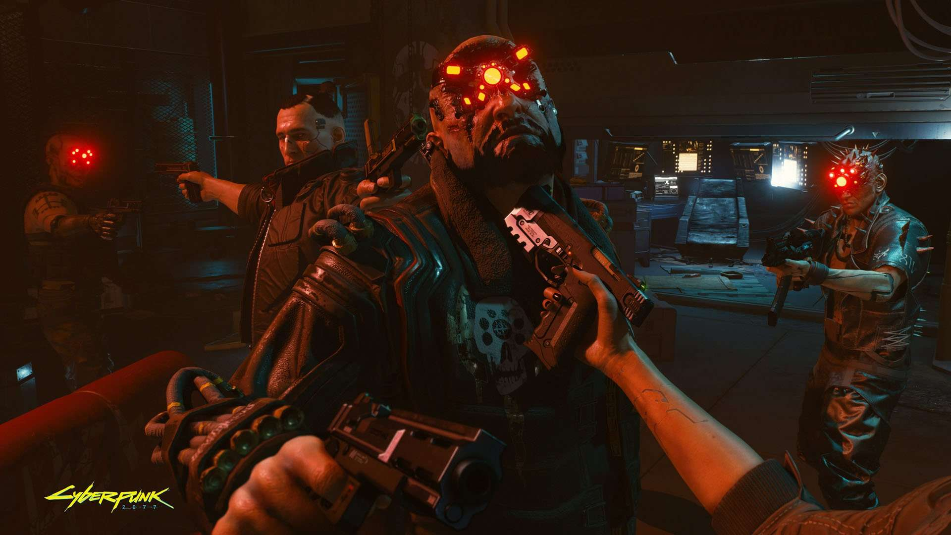 cyberpunk 2077 guns up