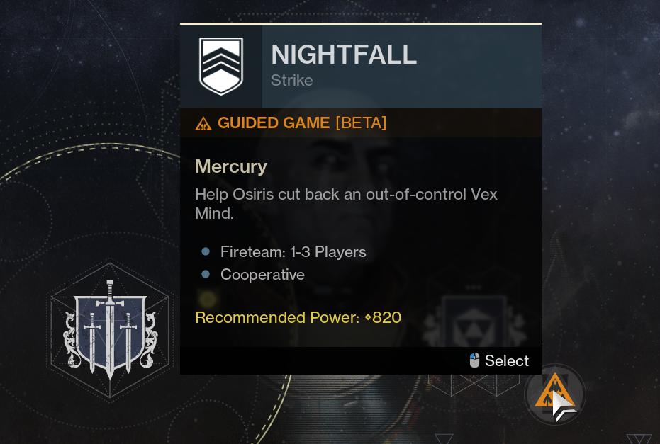 destiny 2 guided games