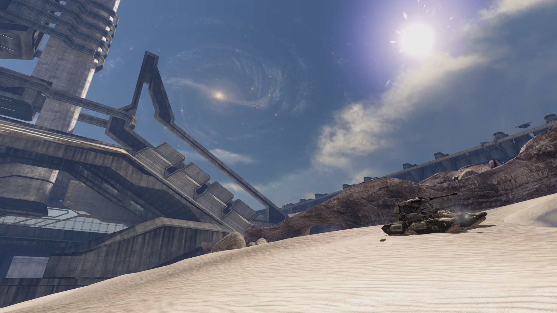 scorpion sitting on sand in halo 3 the ark